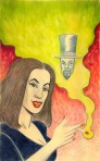 Larry Johnson artist, fantasy illustration, Up In Smoke Madame Boogala Tales of Fantasy #52