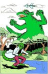Larry Johnson artist, Marvel, Ditko, Gorgo, Lizard, Ditkomania, science fiction
