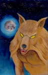 Larry Johnson artist, Werewolf, Madame Boogala, Tales of Fantasy #26, fantasy illustration