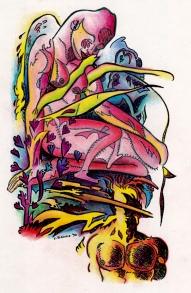 Larry Johnson artist, Birth Mother, fantasy illustration, Tales of Fantasy