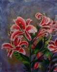 Larry Johnson artist, nature painting, floral