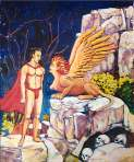 Larry Johnson artist, fantasy painting, Greek mythology oil painting