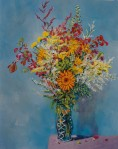 Larry Johnson artist, oil painting, bouquet, floral, art, nature painting