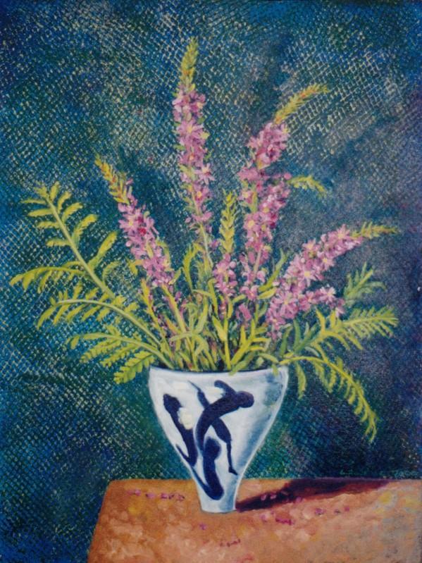 Larry Johnson artist, oil painting, bouquet, floral, art, nature painting