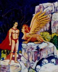 Larry Johnson artist, oil painting, Greek mythology, fantasy illustration
