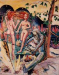 Larry Johnson artist, oil painting, mythology, nude, fantasy illustration