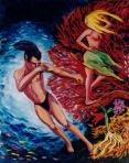 Larry Johnson artist, oil painting, mythology, fantasy illustration